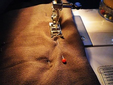 Step 5: Stitch the upper seam.