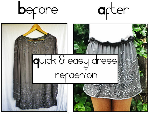 Quick & easy dress refashion