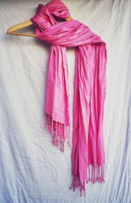 The Secret Costumier - pink scarf