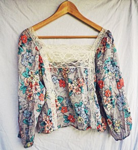 The Secret Costumier - Topshop floral blouse