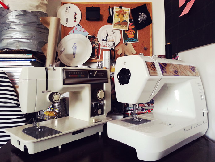 Toyota 555 sewing machine and Toyota RS2000 series