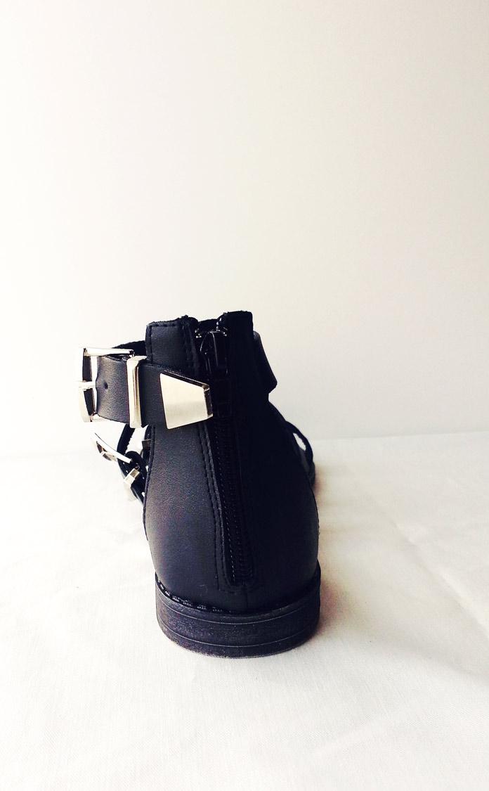 black primark buckle gladiator sandals