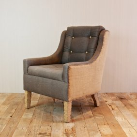 Croft House burlap and hemp armchair