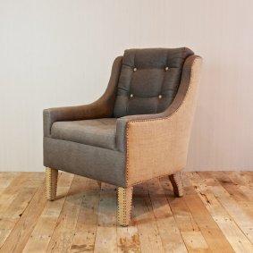 Croft House burlap and hemp armchair