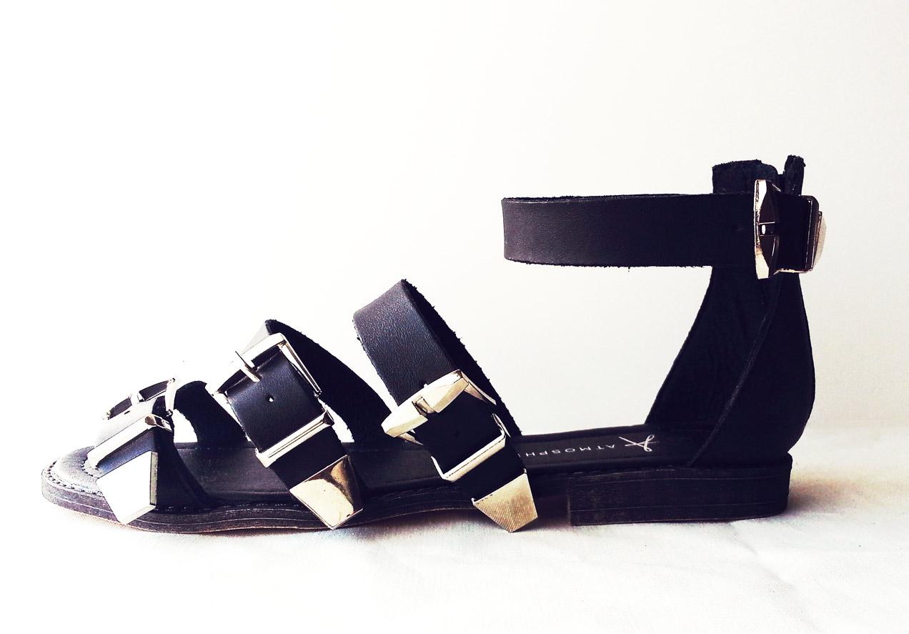 Black sandals primark -  Black Primark Buckle Gladiator Sandals