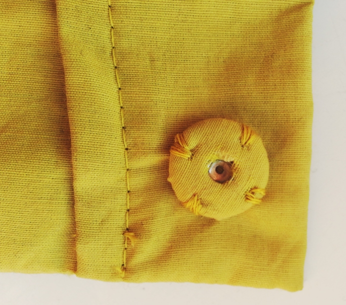 TheSecretCostumier - A-line skirt fabric covered snap fastener