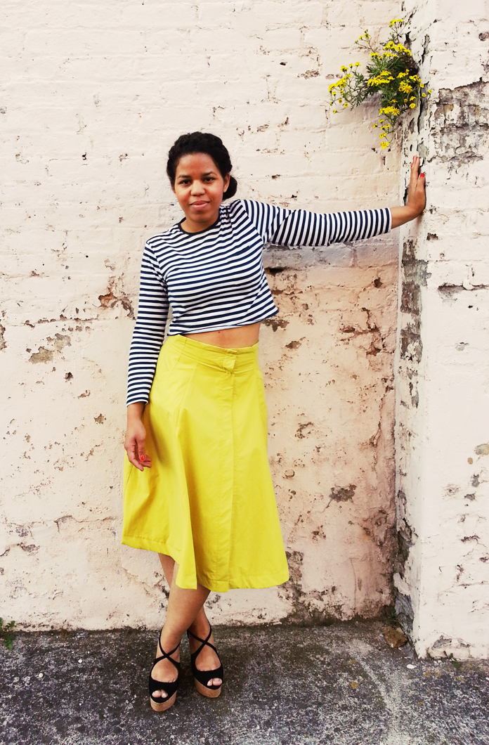 TheSecretCostumier - A-line skirt with striped crop top