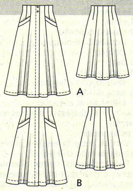 TheSecretCostumier - A-line skirt pattern