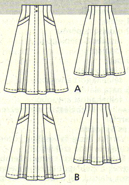 TheSecretCostumier - A-line skirt pattern