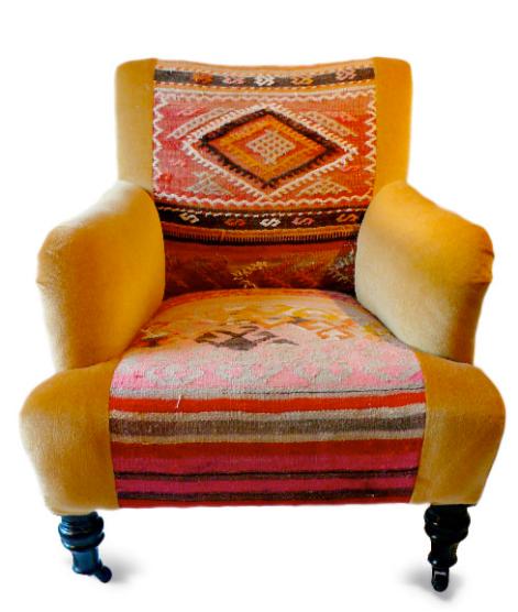 Turkish Saddlebag + Mohair Chair byDebbieLowndes