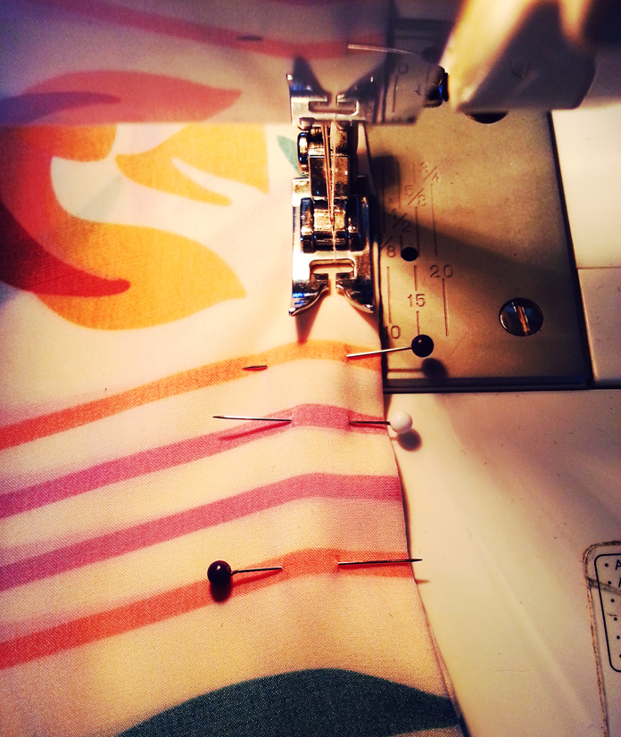 TheSecretCostumier - Kimono in progress sewing