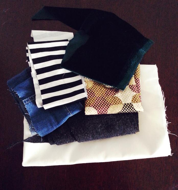TheSecretCostumier - Patchwork journal scrap fabrics