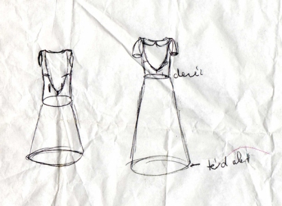 TheSecretCostumier - The first technical drawings