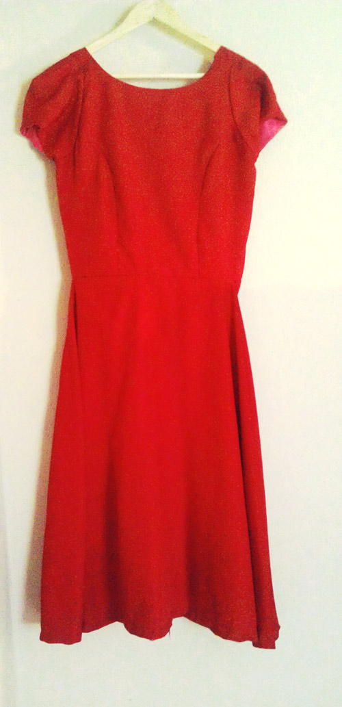 TheSecretCostumier - Red backless dress front