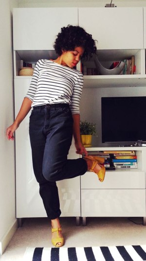 Thrift Store Thursdays - Black jeans refashion