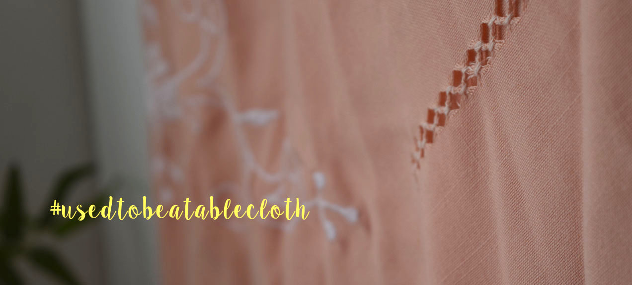 TheSecretCostumier - #usedtobeatablecloth - The material & the pattern